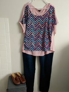 Other - Stylish Top and Jeans. XL